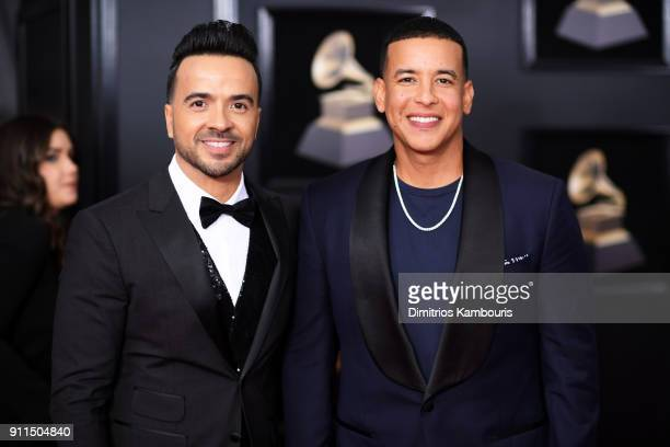 Recording artists Luis Fonsi and Daddy Yankee attend the 60th Annual GRAMMY Awards at Madison Square Garden on January 28 2018 in New York City