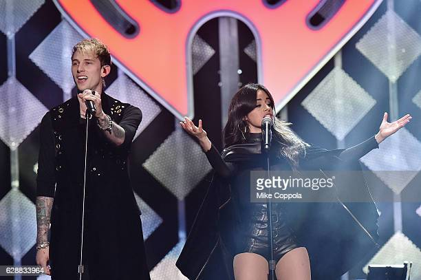 Recording artists Machine Gun Kelly and Camila Cabello perform onstage during Z100's Jingle Ball 2016 at Madison Square Garden on December 9 2016 in...