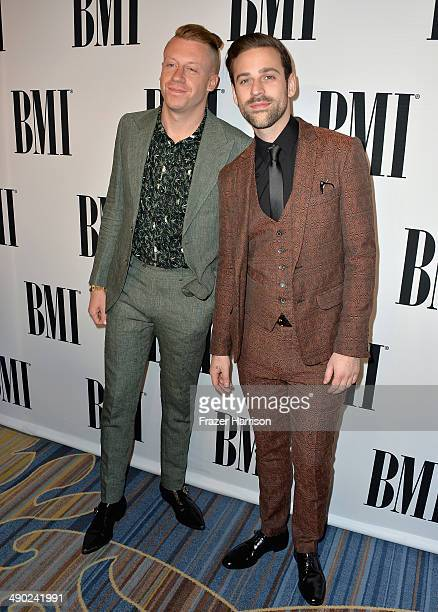 Recording artists Macklemore and Ryan Lewis attend the 62nd annual BMI Pop Awards at the Regent Beverly Wilshire Hotel on May 13, 2014 in Beverly...