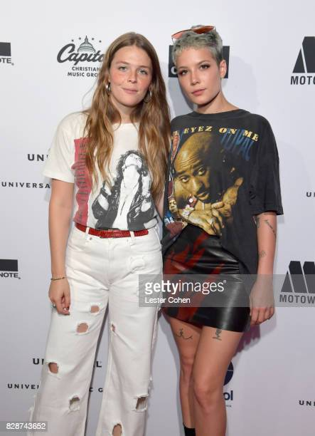 Recording artists Maggie Rogers and Halsey attend Capitol Music Group's Premiere Of New Music And Projects For Industry And Media at ArcLight Cinemas...