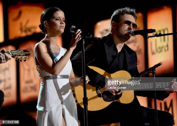 Recording artists Maren Morris and Eric Church perform onstage during the 60th Annual GRAMMY Awards at Madison Square Garden on January 28 2018 in...