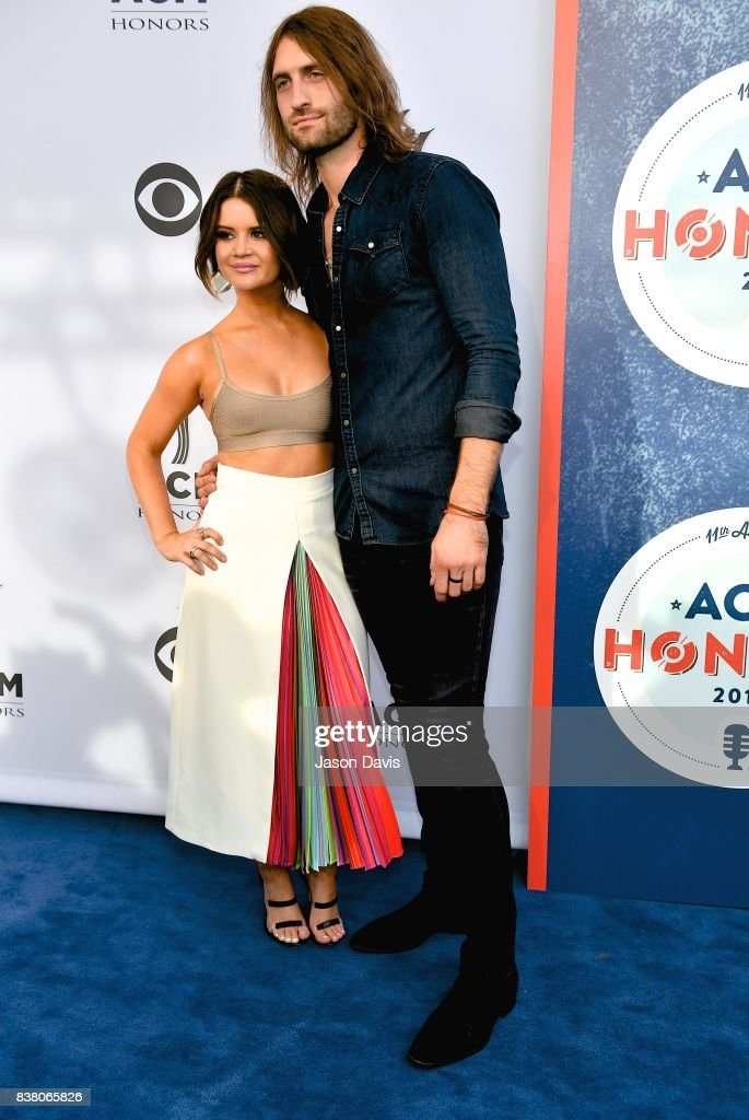 Recording Artists Maren Morris and Ryan Hurd arrive at the 11th Annual ACM Honors at Ryman Auditorium on August 23, 2017 in Nashville, Tennessee.
