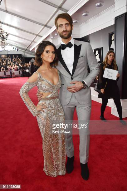 Recording artists Maren Morris and Ryan Hurd attend the 60th Annual GRAMMY Awards at Madison Square Garden on January 28 2018 in New York City