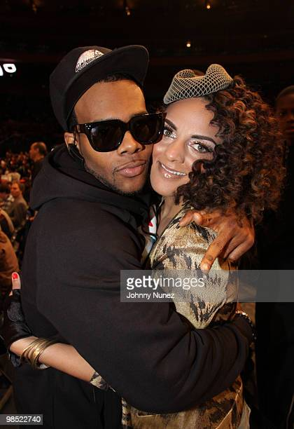 Recording artists Mario and Marsha Ambrosius attend the Jordan Brand Classic National Game at Madison Square Garden on April 17, 2010 in New York...