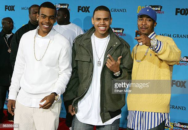 Recording artists Mario Chris Brown and Chingy arrive at the 2005 Billboard Music Awards held at the MGM Grand Garden Arena on December 6 2005 in Las...