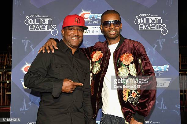Recording artists Markell Riley and Aqil Davidson of WreckxnEffect attend the 2016 Soul Train Music Awards at the Orleans Arena on November 6 2016 in...