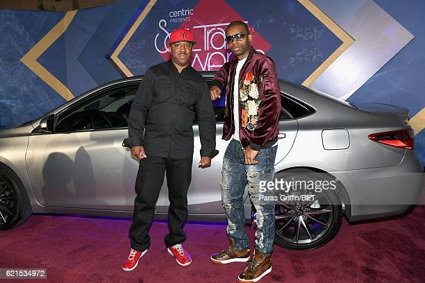Recording artists Markell Riley and Aqil Davidson of WreckxnEffect attends the 2016 Soul Train Music Awards at the Orleans Arena on November 6 2016...