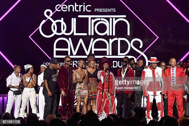 Recording artists Markell Riley and Aqil Davidson of WreckxnEffect recording artists V Bozeman IndiaArie Erykah Badu Aaron Hall and Damion Hall of...