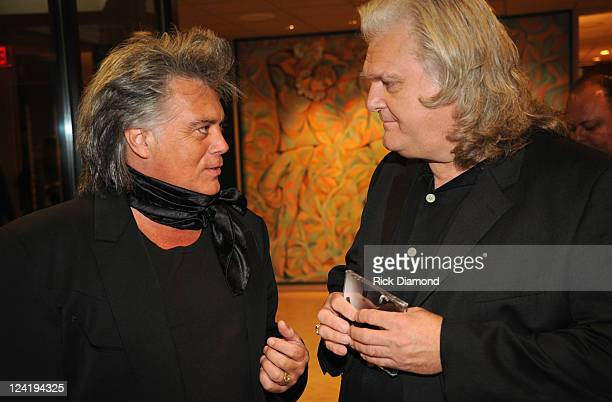 Recording Artists Marty Stuart and Ricky Skaggs during Sugar Hill Records Long Line of Heartaches Reception With Connie Smith on September 8 2011 at...