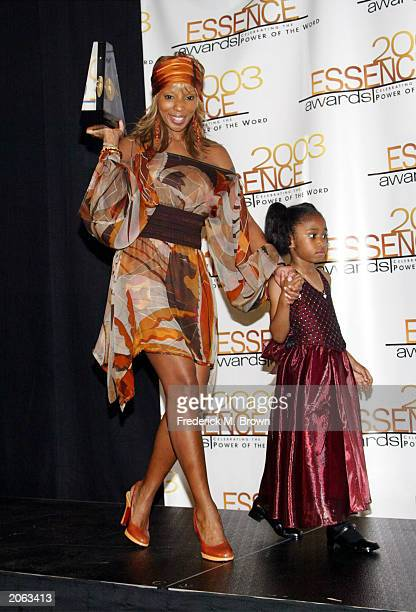 Recording artists Mary J Blige and Jamia Nash attend16th Annual Essence Awards at the Kodak Theatre on June 6 2003 in Hollywood California The show...