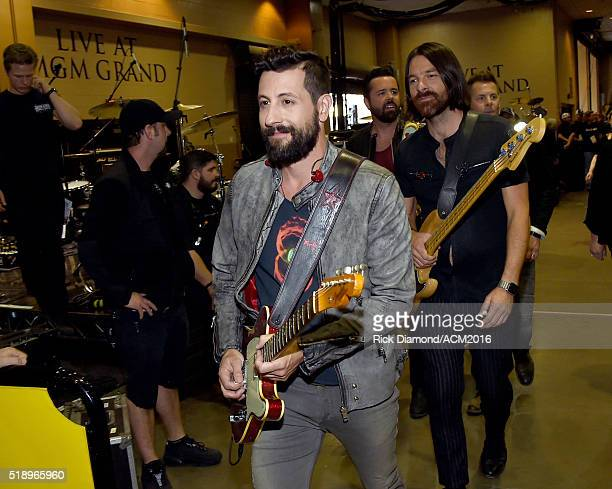 Recording artists Matthew Ramsey and Geoff Sprung of Old Dominion attend the 51st Academy of Country Music Awards at MGM Grand Garden Arena on April...