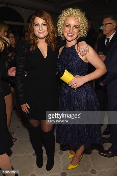 Recording artists Meghan Trainor and Cam attend Sony Music Entertainment 2016 PostGrammy Reception at Hotel Bel Air on February 15 2016 in Los...