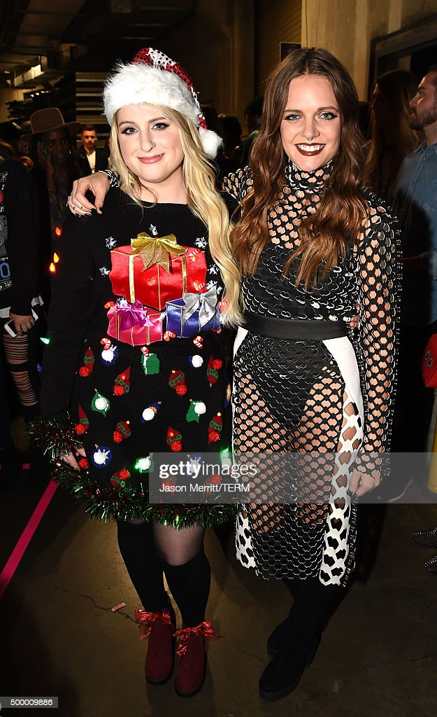 Recording artists Meghan Trainor (L) and Tove Lo attend 102.7 KIIS FM's Jingle Ball 2015 Presented by Capital One at STAPLES CENTER on December 4, 2015 in Los Angeles, California.