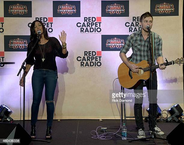 Recording Artists Mickey Guyton and Chris Always perform at Red Carpet Radio Presented By Westwood One For The American County Countdown Awards at...