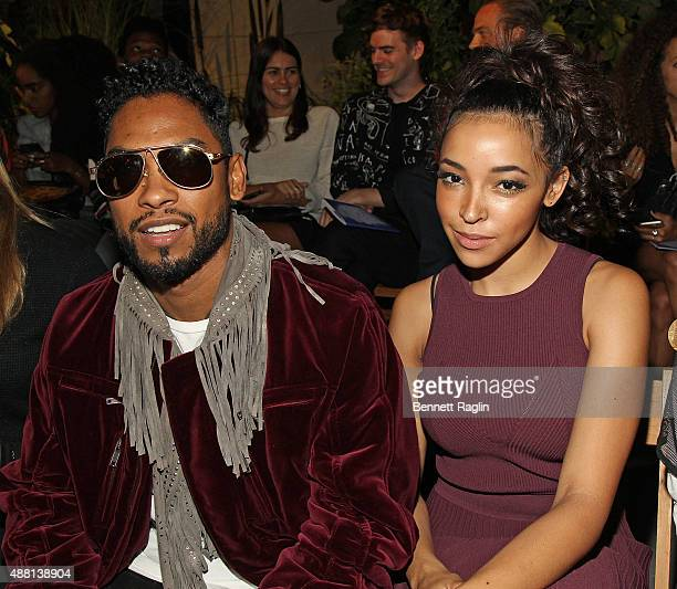 Recording artists Miguel and Tinashe attend the Opening Ceremony Fashion Show during Spring 2016 New York Fashion Weekon September 13 2015 in New...