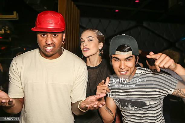 Recording artists Mijo Stormi Henley and Braxton Olita of UGLY attend the Perez Hilton CD release party at Bootsy Bellows on May 16 2013 in West...