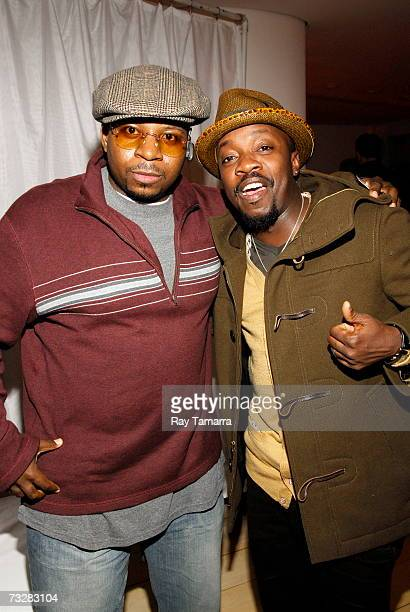 Recording artists Mike City and Anthony Hamilton attend BMI's PreGrammy Party at the Mondrian Hotel February 09 2007 in Los Angeles California