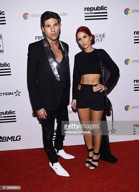 Recording artists Mike Del Rio and Crista Ru of Powers arrive at the Republic Records Private GRAMMY Celebration at HYDE Sunset Kitchen Cocktails on...