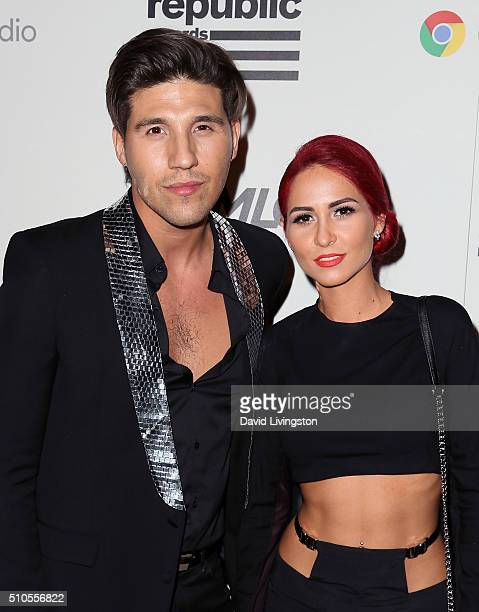 Recording artists Mike Del Rio and Crista Ru of POWERS attend Republic Records Private GRAMMY Celebration at HYDE Sunset Kitchen Cocktails on...
