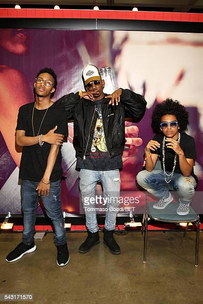 Recording artists Mike EJ and Princeton of Mindless Behavior attend the Coke music studio during the 2016 BET Experience on June 26 2016 in Los...