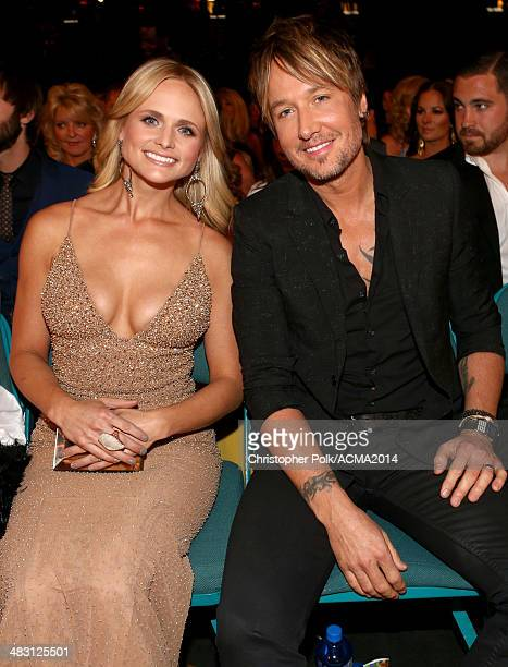 Recording artists Miranda Lambert and Keith Urban attend the 49th Annual Academy of Country Music Awards at the MGM Grand Garden Arena on April 6...