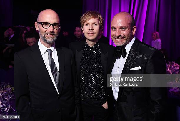 Recording artists Moby Beck and Alessandro Maria Ferreri attend the 23rd Annual Elton John AIDS Foundation Academy Awards Viewing Party on February...