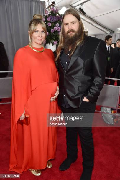 Recording artists Morgane Stapleton and Chris Stapleton attend the 60th Annual GRAMMY Awards at Madison Square Garden on January 28 2018 in New York...