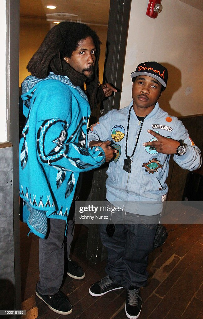 Recording artists Murs and Mann attend the Highline Ballroom on May 19, 2010 in New York City.