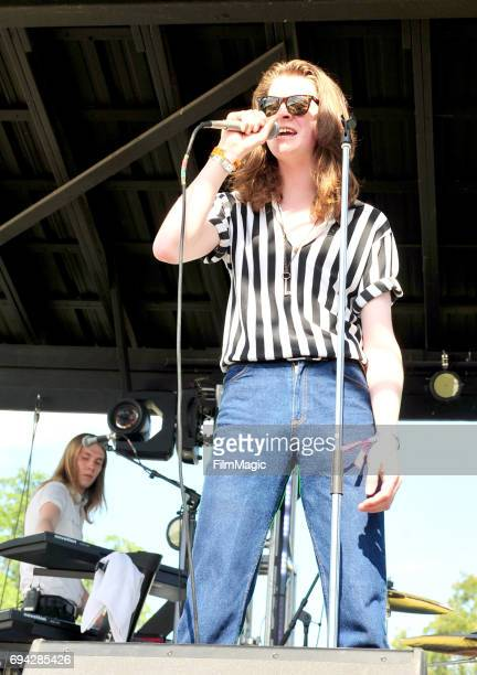 Recording artists Myles Kellock and Tom Ogden of Blossoms perform onstage at Who Stage during Day 2 of the 2017 Bonnaroo Arts And Music Festival on...