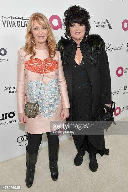 Recording artists Nancy Wilson and Ann Wilson of Heart attend Neuro at the 22nd Annual Elton John AIDS Foundation Academy Awards Viewing Party at The...