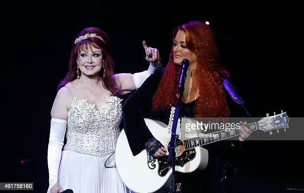 Recording artists Naomi Judd and Wynonna Judd perform during the launch of their nineshow residency 'Girls Night Out' at The Venetian Las Vegas on...