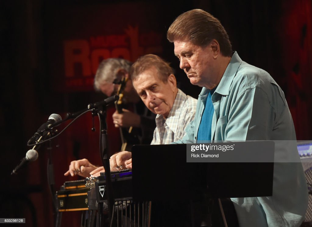 Recording Artists Nashville Cats Lloyd Green and Jaydee Maness perform during Music City Roots at The Factory At Franklin on August 16, 2017 in Franklin, Tennessee.