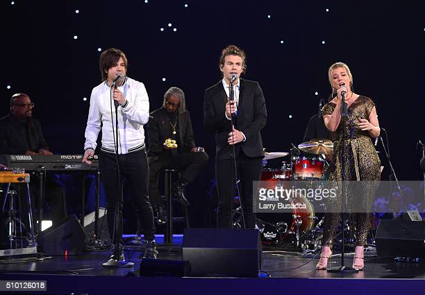 Recording artists Neil Perry Reid Perry and Kimberly Perry of The Band Perry perform onstage at the 2016 MusiCares Person of the Year honoring Lionel...