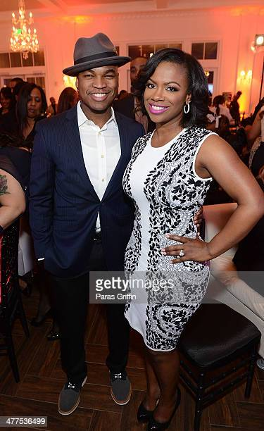 Recording artists NeYo and Kandi Burruss attend the 2014 Heels Of Greatness Dinner at The Estate at Pedimont on March 9 2014 in Atlanta Georgia