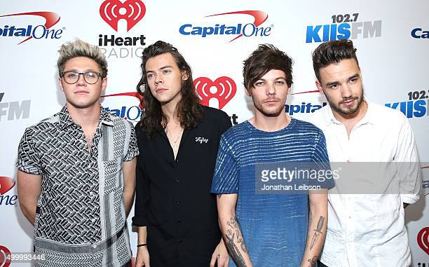 Recording artists Niall Horan Harry Styles Louis Tomlinson and Liam Payne of One Direction attend 1027 KIIS FM's Jingle Ball 2015 Presented by...