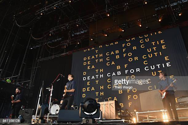 Recording artists Nick Harmer Ben Gibbard and Chris Walla of Death Cab for Cutie performs onstage at Firefly Music Festival on June 18 2016 in Dover...