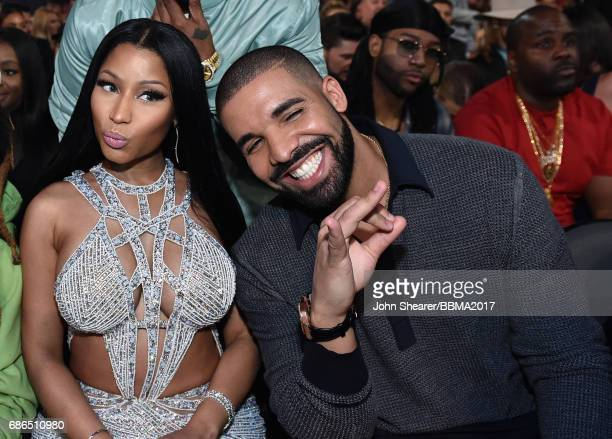 Recording artists Nicki Minaj and Drake attend the 2017 Billboard Music Awards at TMobile Arena on May 21 2017 in Las Vegas Nevada