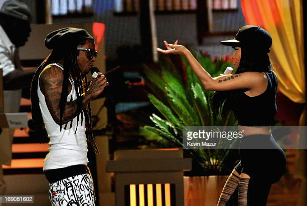 Recording artists Nicki Minaj and Lil Wayne perform onstage during the 2013 Billboard Music Awards at the MGM Grand Garden Arena on May 19 2013 in...