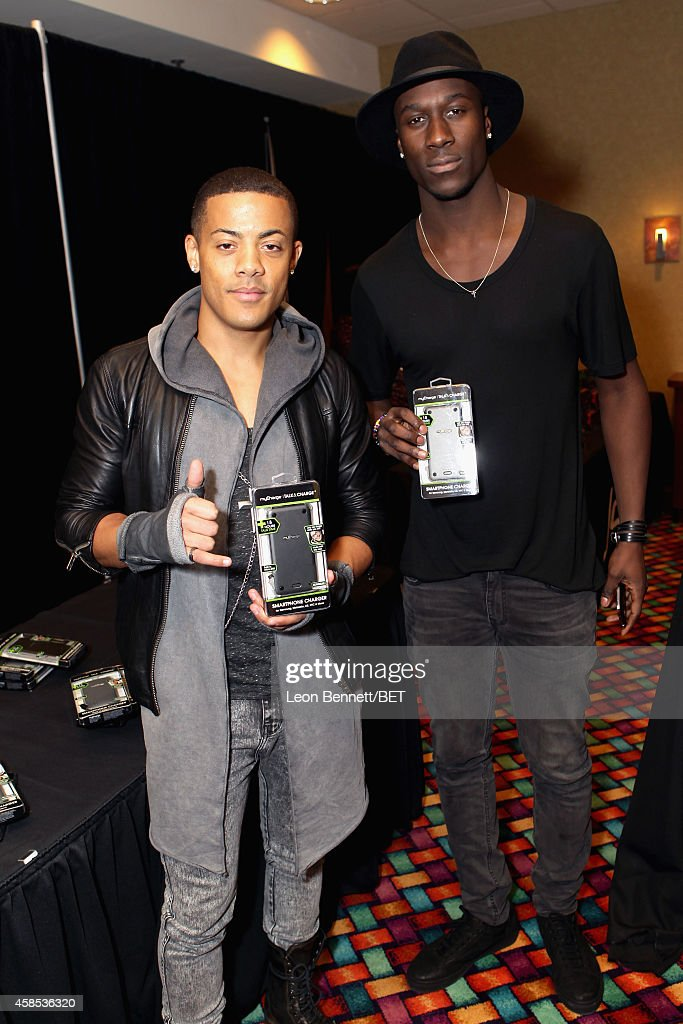 Recording artists Nicola 'Nico' Sereba and Vincent 'Vinz' Dery of Nico & Vinz attend day 1 of the 2014 Soul Train Music Awards Gifting Suite at the Orleans Arena on November 6, 2014 in Las Vegas, Nevada.