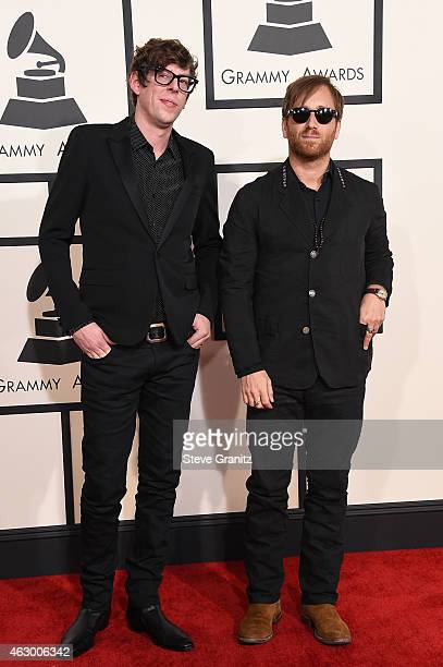 Recording artists Patrick Carney and Dan Auerbach of music group The Black Keys attend The 57th Annual GRAMMY Awards at the STAPLES Center on...