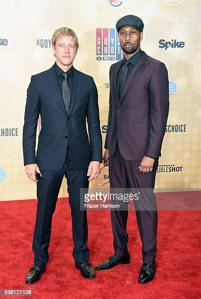 Recording artists Paul Banks and RZA attend Spike TV's 10th Annual Guys Choice Awards at Sony Pictures Studios on June 4 2016 in Culver City...