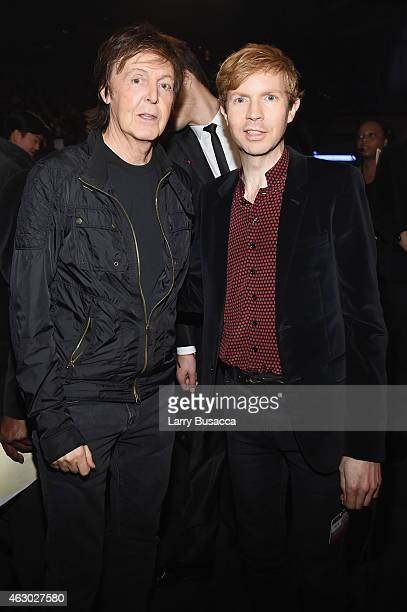 Recording Artists Paul McCartney and Beck attend The 57th Annual GRAMMY Awards at the STAPLES Center on February 8, 2015 in Los Angeles, California.