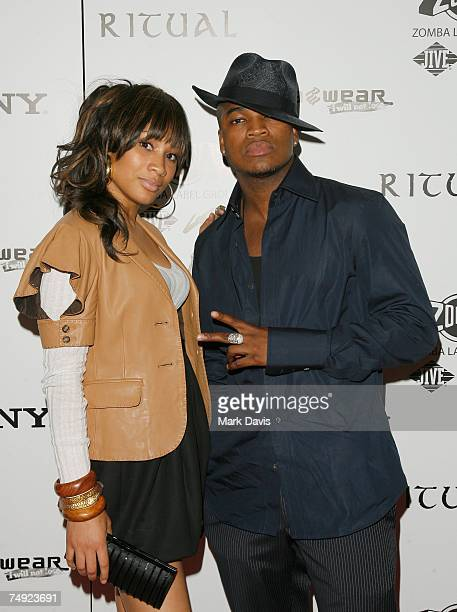 Recording artists Paula Campbell and NeYo arrive to Zomba Label Group's PreBET Awards Party featuring Ciara held at Ritual Nightclub on June 25 2007...