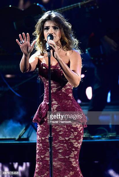 Recording artists Paula Fernandes peforms onstage during the 16th Latin GRAMMY Awards at the MGM Grand Garden Arena on November 19 2015 in Las Vegas...