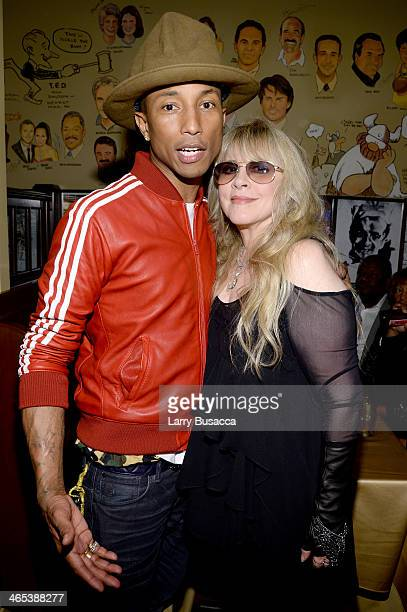 Recording artists Pharrell Williams and Stevie Nicks attend the Sony Music Entertainment PostGrammy Reception at The Palm on January 26 2014 in Los...