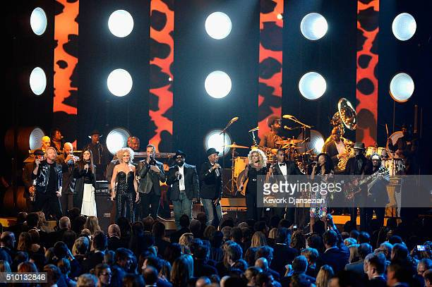 Recording artists Phillip Sweet Karen Fairchild Kimberly Schlapman and Jimi Westbrook of Little Big Town Black Thought Pharrell Williams Tori Kelly...