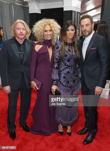 Recording artists Phillip Sweet Kimberly Schlapman Karen Fairchild and Jimi Westbrook at The 59th Annual GRAMMY Awards at STAPLES Center on February...