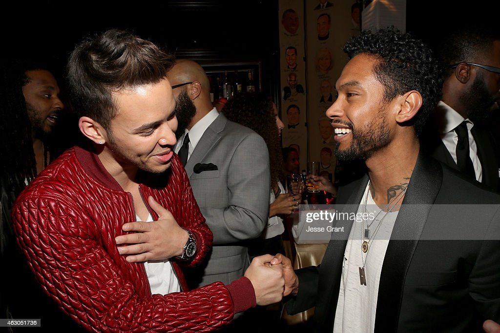 Recording artists Prince Royce and Miguel attend the Sony