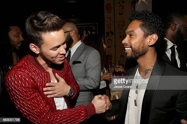Recording artists Prince Royce and Miguel attend the Sony Music Entertainment 2015 PostGrammy Reception at The Palm on February 8 2015 in Los Angeles...