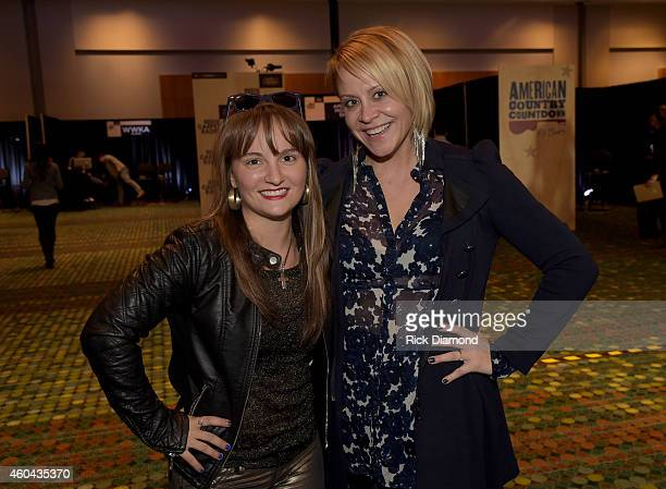 Recording Artists Rachele Lynae and Gwen Sebastian attend at Red Carpet Radio Presented By Westwood One For The American County Countdown Awards at...